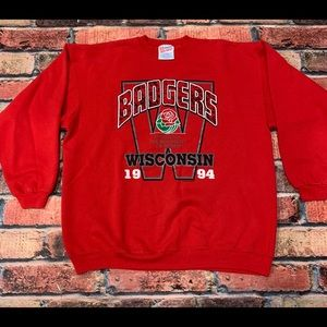 Shirts - Vintage Wisconsin Badgers 1994 Rose Bowl Crewneck